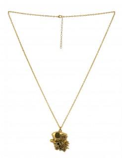 Goldene Kette Totenkopf gold