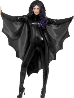 Vampir Fledermaus Flügel Cape schwarz