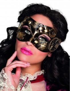 Augenmaske Steampunk für Erwachsene gold-braun