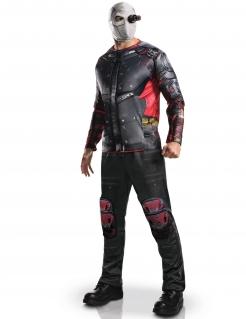 Deadshot™-Kostüm für Erwachsene Lizenzartikel schwarz-rot-weiss