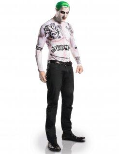 Joker-Kostüm Suicide Squad Lizenzkostüm hautfarben-schwarz-grün