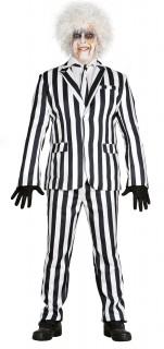 Gestreifter Anzug Nadelstreifen-Herrenanzug schwarz-weiss