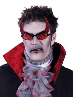 Dämonenbrille Teufel Spassbrille mit Hörnern rot-schwarz
