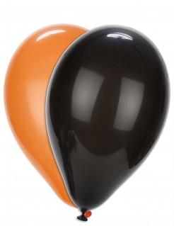 Halloween-Luftballons Partydeko 100 Stück orange-schwarz