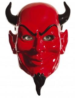 Scream Queens™ Teufelsmaske Lizenzware rot-schwarz