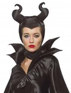 Maleficent™-Haarschmuck Halloween-Accessoire schwarz