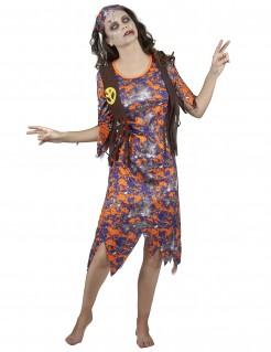 Zombie Hippie Halloween-Damenkostüm bunt