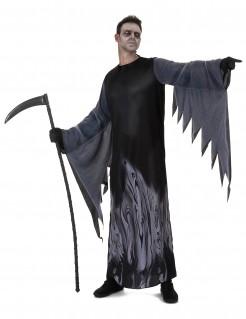 Dunkler Sensenmann Halloween-Herrenkostüm schwarz