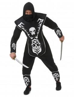 Ninja Skelettkostüm für Herren schwarz-weiss