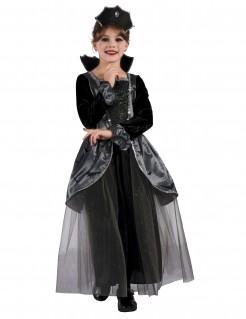 Dunkle Gräfin Kinderkostüm Halloween-Mädchenkostüm schwarz