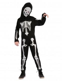 Skelett-Anzug für Kinder Knochenmann-Kostüm schwarz-weiss