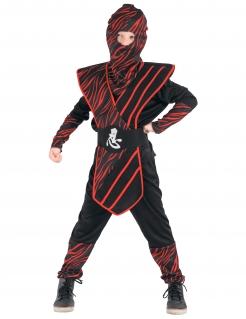 Ninja Ninja-Kostüm für Kinder Ninja-Anzug schwarz-rot
