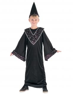 Kleiner Zauberer Zauberlehrling-Kinderkostüm schwarz