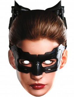 Catwoman™-Pappmaske The Dark Knight Rises™ beige-braun-schwarz