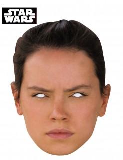 Rey™-Maske Star Wars™-Lizenzartikel hautfarben schwarz