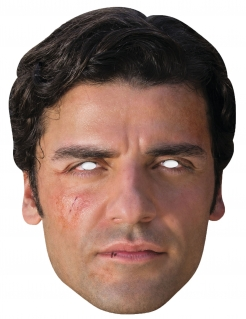 Poe™-Maske Star Wars™-Lizenzartikel hautfarben-schwarz