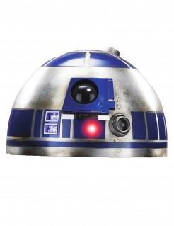 R2D2™-Halbmaske Star Wars™-Lizenzartikel silber-blau