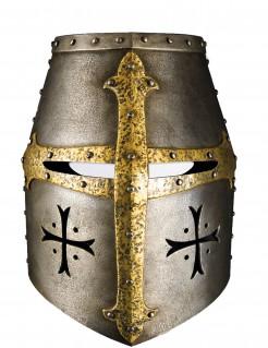 Ritterhelm Maske Mittelalter Kostüm-Accessoire silber-gold
