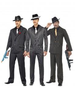 Gangster-Gruppenkostüm für Herren schwarz-weiss
