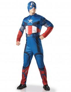 Captain America™-Deluxekostüm für Erwachsene blau-weiss-rot