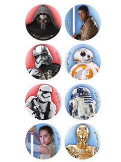 Mini Star Wars™ Zuckerscheiben 16 Stück bunt 3,4cm
