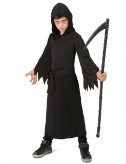 Sensenmann-Kinderkostüm für Halloween schwarz