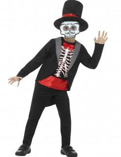Dia de los Muertos Skelett-Gentleman Halloween Kinderkostüm bunt