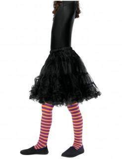 Gestreifte Kinder-Strumpfhose Kostüm-Accessoire lila-orange