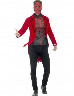 Teuflischer Dämon Halloween-Herrenkostüm rot-schwarz