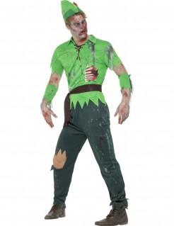 Zombie Waldjunge Halloween-Herrenkostüm grün