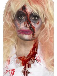 Zombie Schmink-Set für Halloween Make-up 3-teilig schwarz-rot