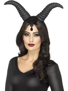 Riesige Dämonenhörner Halloween Kostüm-Accessoire schwarz