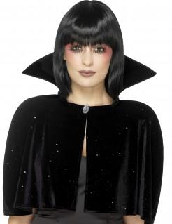 Sternen-Mantel Hexenumhang schwarz-weiss