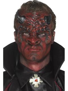 Teufelsmaske Dämon für Erwachsene rot-schwarz