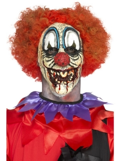 Horrorclown-Latexapplikation Halloween bunt