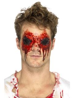 Latexapplikation ausgerissene Augen Halloween hautfarben-rot