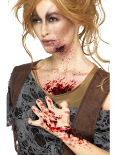 Verkrustetes Blut Wundschorf Halloween Make-up rot