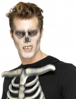 Skelettzähne Falsche Zähne zum Anpassen für Erwachsene weiss