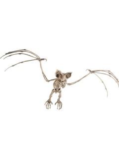 Skelett-Fledermaus Halloween-Hängedeko beige 66x29cm