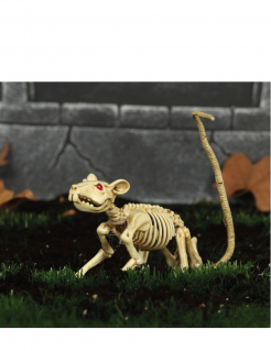 Skelett-Ratte Halloween-Deko beige 30cm