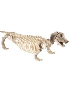 Skelett-Hund Halloween Hängedeko beige 55x13x30cm