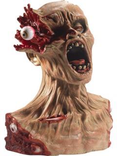 Grauenhafte Zombie-Büste Halloween-Deko hautfarben-rot 40cm