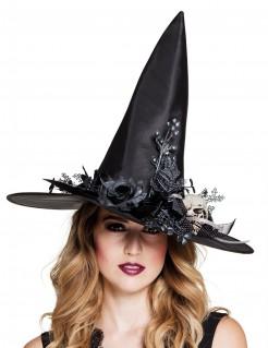 Eleganter Hexenhut für Damen schwarz