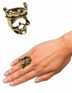 Piratenkönig Ring Halloween-Schmuck gold