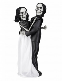Tanzendes Skelett-Brautpaar schwarz-weiss 40cm