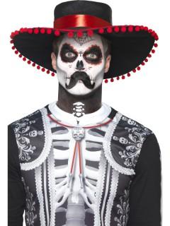 Dia de los Muertos Skelett-Bandit Accessoire-Set 5-teilig bunt