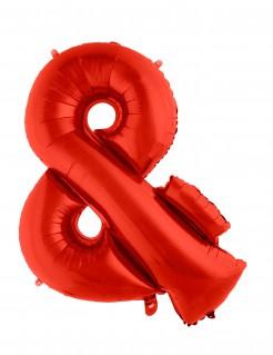 Zeichen-Folienballon Symbol & rot 80cm