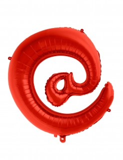 Zeichen-Folienballon Symbol @ rot 70cm