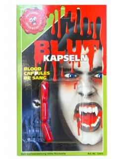 Blutkapseln 3 Stück Halloween-Make-up rot/ 600mg pro st.