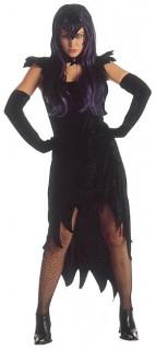 Hexenkleid Zauberin Halloween Damenkostüm schwarz
